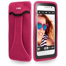 """Custodia Universale per Smartphone fino a 5"""" Colore Rosa"""