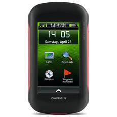 """Navigatore GPS Portatile Montana 680 Display 4"""" Memoria 3.5 GB Tutta Europa con aggiornamento gratuito a vita GPS Bluetooth e WiFi Nero e Rosso"""