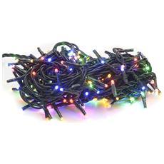 Filo 100 luci Led multicolor per albero di Natale controller 8 funzioni