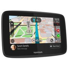 """Navigatore GPS GO 520 Display 5"""" Memoria 16 GB Mappe del Mondo con aggiornamento gratuito a vita GPS Bluetooth e WiFi Nero e Grigio"""