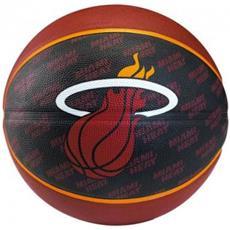 Pallone Basket Miami Heat Nero Rosso 7