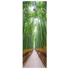 Appendiabiti Da Parete 49x139 Cm Road In Bamboo