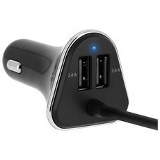 Caricabatterie Accendisigari Auto Hub Estensibile 9.6a / 4 Porte Usb - 4smarts