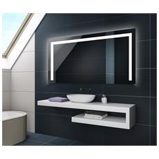 Controluce Led Specchio 120x60cm Su Misura Illuminazione Sala Da Bagno L11