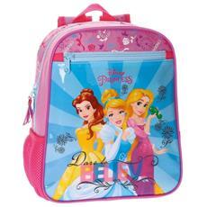 Zainetto Scuola Principesse Disney 28 Cm Zaino Asilo Bambine Rosa Azzurro