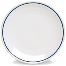 Piatto Piano Bianco / Blu 25 cm