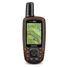 "GPSMAP 64s Ricevitore con Display 2.6"" Wireless Bluetooth Mappe Mondo"