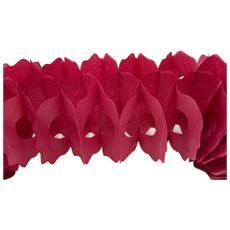 Ghirlanda Di Carta Di Color Bordeaux Taglia Unica