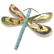 decorazione della parete libellula babushka colorato (legno) - 435x345 cm - [ n5823]