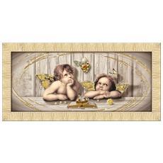 Quadro Su Tela Prince 65x135 Cm Cupids Brown Gold