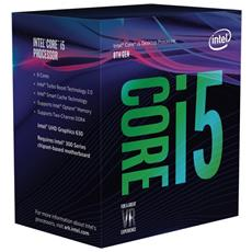 Processore Core i5-8400 (Coffee Lake-S) Hexa-Core 2.8 GHz Socket LGA 1151 con Dissipatore