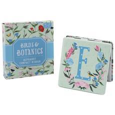 Birds And Botanics Specchietto Da Borsetta Con Lettera (d) (azzurro / rosa)