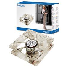 PC case fan, Ventilatore, Computer case, 8 cm, Trasparente, Acrilico, LED