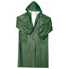Cappotto Lungo Impermeabile In Pvc E Poliestere Colore Verde Taglia M