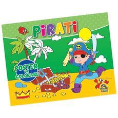 Poster Da Colorare - Pirati