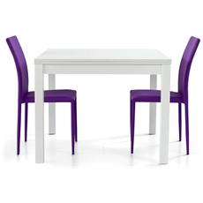 Tavolo nevat allungabile 90x90 bianco frassinato