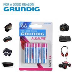 Stilo Grundig Alcaline Formato Aa Lr6 1.5v 2100 Mah Confezione Da 4 Batterie