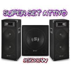 Sistema Audio Amplificato 1600w Subwoofer + Satelliti + Cavi Art. Kitnewversion1
