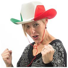 Cappello Da Cowboy Bandera Italiana