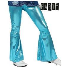 Pantalone Per Adulti Th3 Party Disco Brillante Azzurro Xl