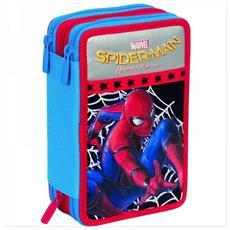 Kit Scuola School Zaino Estensibile + Astuccio 3 Zip Giotto Marvel Spiderman