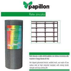 Rete metallica zincata recinzione per animali Mt 1x25 Diametro 1,45 mm