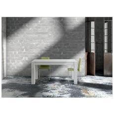 Tavolo solid 140x90 allungabile abete spazzolato bianco