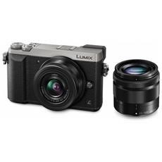 Lumix DMC-GX80 Silver + Obiettivo 12-32 mm + Obiettivo 35-100 mm 16Mpx Video UHD 4K Wi-Fi Post-Focus