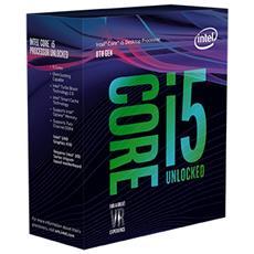 Processore Core i5-8600K (Coffee Lake-S) Hexa-Core 3.6 GHz Socket LGA 1151 Boxato Moltiplicatore Sbloccato
