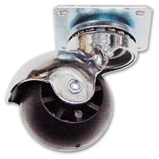 Ruota in Nyolon con Piastra Girevole MDP Ø 35 mm Piastra 38x38 mm Portata 12 Kg