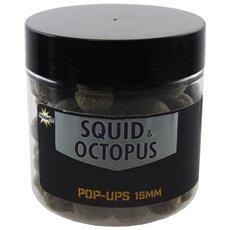 Boilies Foodbait Pop Up Hi-attract Squid Octopus 15 Mm Unica Nero