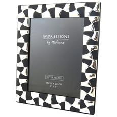 cornici portafoto 'design' cromo nero (15x20 cm) - [ m9044]