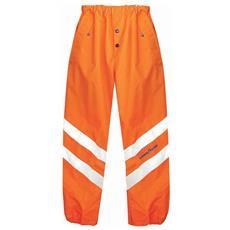 Pantaloni Ad Alta Visibilità In Poliestere Oxford Traspirante Colore Arancio Taglia S
