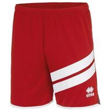 Errea Jaro Short Pantaloncino Adulto Rosso / bianco Taglia M