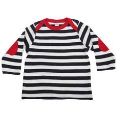Maglietta A Righe Manica Lunga Neonati (6-12 Mesi) (blu / bianco / rosso)