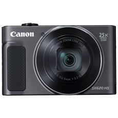 "Fotocamera Digitale PowerShot SX620 HS 20,2 Mpx Zoom Ottico 25x Display LCD 3"" Wi-Fi NFC - Nero"