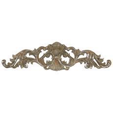 Coppia Fregi Decorativi Finitura Oro Anticato L45,5xpr1xh11,5 Cm