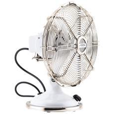 JOE50 Ventilatore da Tavolo Diametro 25 cm Colore Bianco