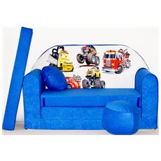 Divanetto Transformabile In Lettino Blu / bianco Drive C14