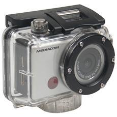 MEDIACOM - Action Cam SportCam Xpro 120 HD + Telecomando +Kit Accessori Full HD Wi-Fi