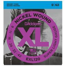 exl120 Set di Corde Rivestite in Nickel per Chitarra elettricaSuper Light9-42