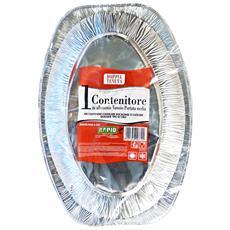 Vassoio Medio Alluminio X 1 Pezzi Rapid - Vaschette Per Alimenti