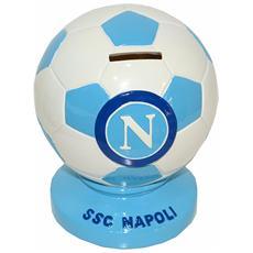 Ssc Calcio Napoli Salvadanaio In Ceramica Pallone Bianco