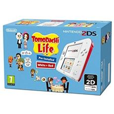 "Console Nintendo 2DS + Tomodachi Life 3.53"" Touchscreen Wi-Fi colore Rosa / Bianco"