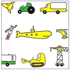 I piccoli libri dei mezzi di trasporto: Il pullman-L'elicottero-L'aereo-Il robot-Il sommergibile. Ediz. illustrata