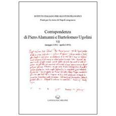 Corrispondenza di Piero Alamanni e Bartolomeo Ugolini (maggio 1492-aprile 1493)