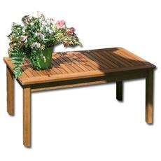 Tavolino in legno massello per arredo giardino cm 50x100