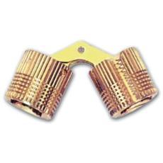 Cerniera per Mobili a Scomparsa in Ottone Lucido misura 14 mm