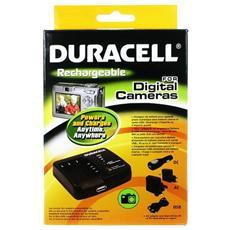 Camera Battery Charger with USB Charger, Auto, Interno, Esterno, Videocamera, AC, Accendisigari, USB, Nero, 230V, 5V