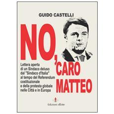 No, caro Matteo. Lettera aperta di un sindaco deluso dal sindaco d'Italia al tempo del referendum costituzionale e della protesta globale nelle città e in Europa